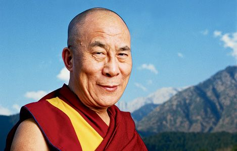 Peaceful living Dalai Lama