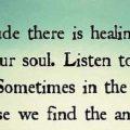 Healing Power of Solitude