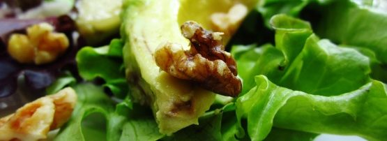 Avocado, Chicken, Walnut Salad